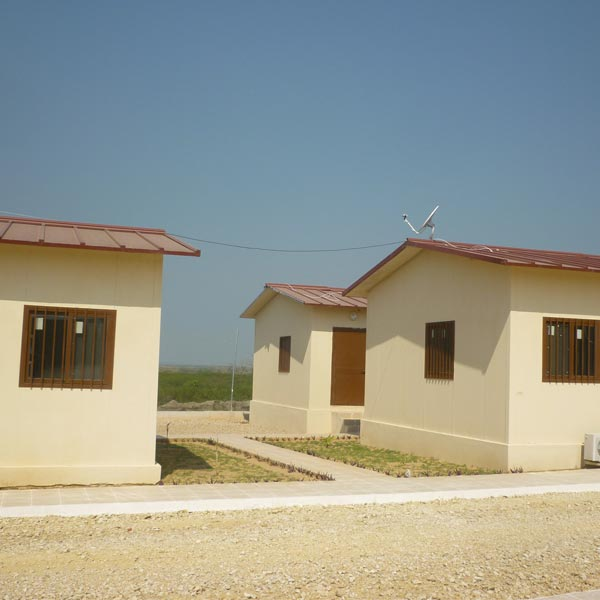 The construction of a training school, 5 development stations and depots for the agricultural sector in Angola.