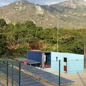 Water plant powered with photovoltaic energy in Benguela