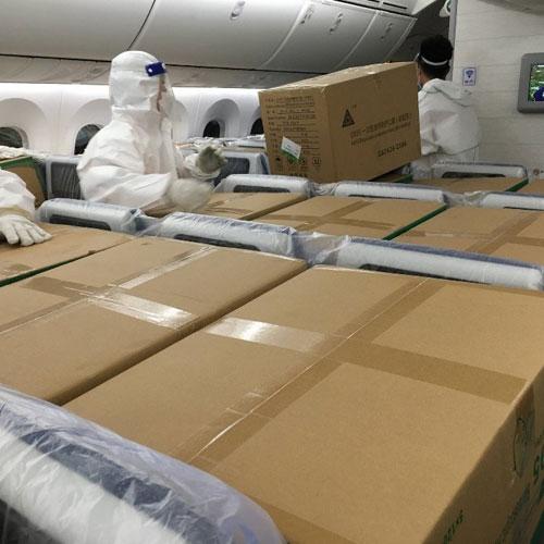 Suministro de emergencia de EPI's por corredor aéreo y logístico propio durante la pandemia COVID- 19